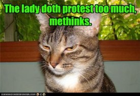 lady doth protest cat