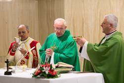 Pope Francis demi Mass