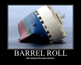 barrel roll ship