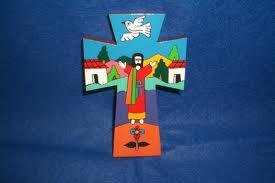 floaty Jesus de campo crucifix