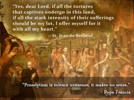 North American Jesuit Martyrdom Solemn Nonsense