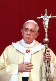 Pope Francis bling ferula