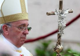 Pope Francis close up bling Ferula