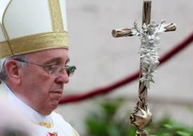 Pope Francis close up bling Ferula