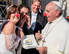 pope francis clown nose