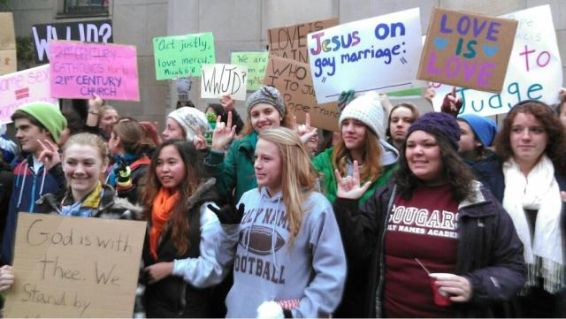 Catholic students support gay marriage Who Am I To Judge