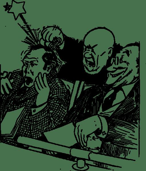 angry man at opera