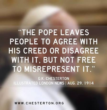 pope agree disagree chesterton francis