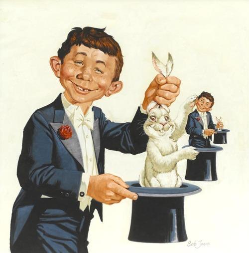 alfred e newman rabbit trick