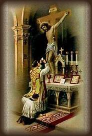 Holy Mass Altar Crucifixion