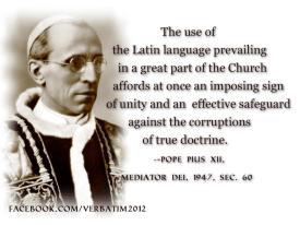 Mediator Dei Latin Pius XII