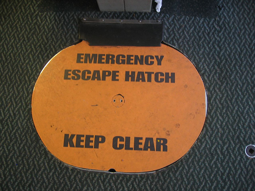 emergency-escape-hatch-keep-clear