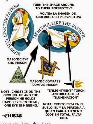masonic hints in year of mercy logo