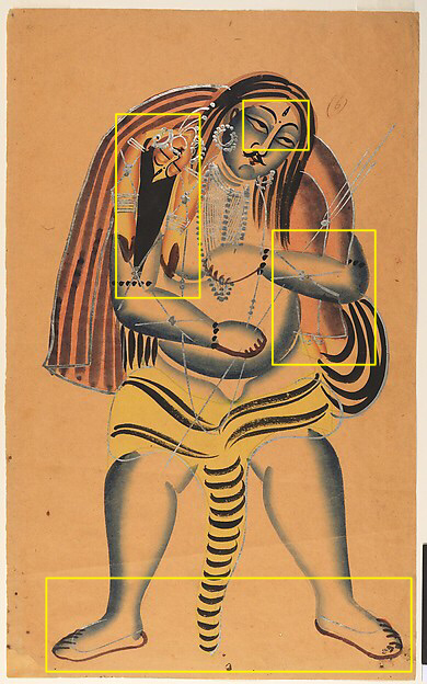 shiva carries sati highlighted