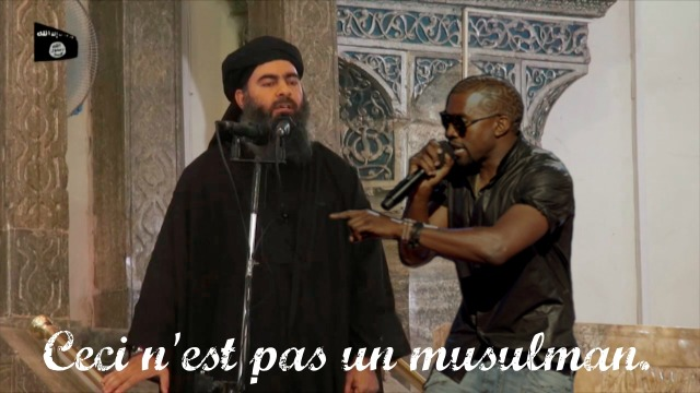 ceci n'est pas abu bakr al-baghadi with kanye west