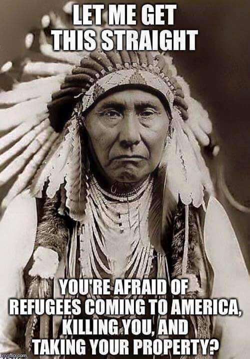 indian chief refugees meme