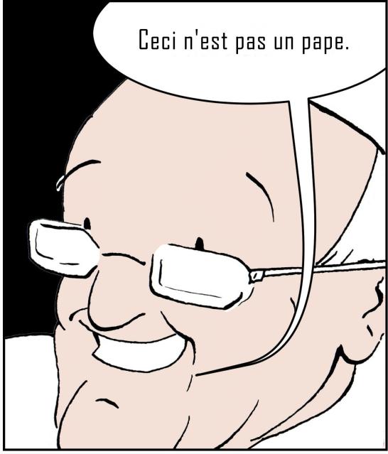 Pope Francis Angleus bubble - ceci n'est pas un pape
